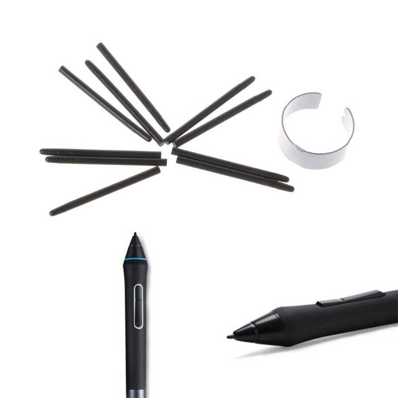 10 قطعة الرسم لوح للرسم قلم قياسي Nibs القلم ل Wacom قلم رسم hyq