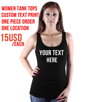 Custom Text Print Women Tank Tops 11 Colors Bachelorette Party Summer Sexy Cropped Camisetas Mujer Free