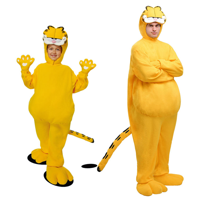 Garfield Parent-child Costume Children Suit Set Christmas Carnival New year Parent-child clothing Cosplay Party Animals Jumpsuit