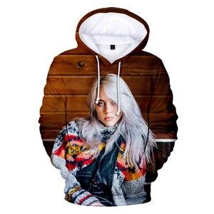 Image 3 - 新パーカーストリートビリー eilish ファッションパーカー男性/女性ファッション歌手ヒップホップユニセックストレーナートップ