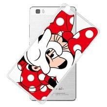 Funny Cartoon mickey Minnie PINK Clear Cover Case For Huawei P6 P7 P8 P8 Lite P9 P9 Lite For Sony Xperia Z1 Z2 Z3 Z4 Z5