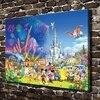 C X435 Mickey Mouse Snow White Mermaid Cartoon HD Canvas Print Home Decoration Living Room Bedroom