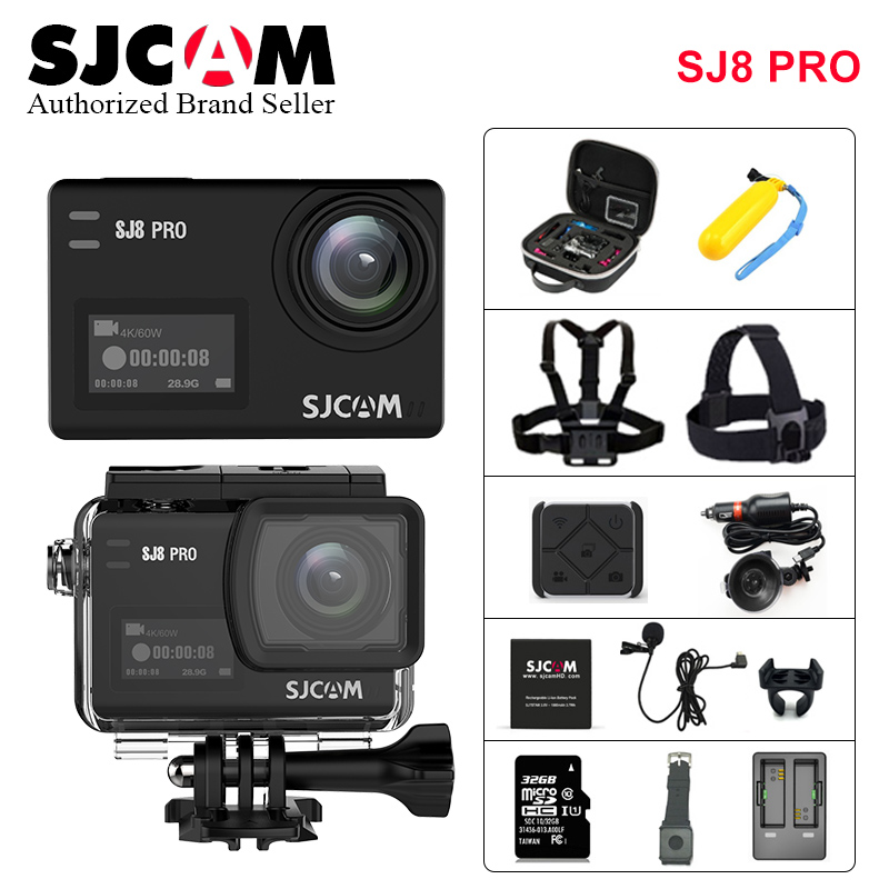 SJCAM SJ8 Pro 4K 60FPS WiFi Пульт дистанционного управления шлем Экшн камера Ambarella H22 8 * Цифровой зум Ultra HD Экстремальные виды спорта