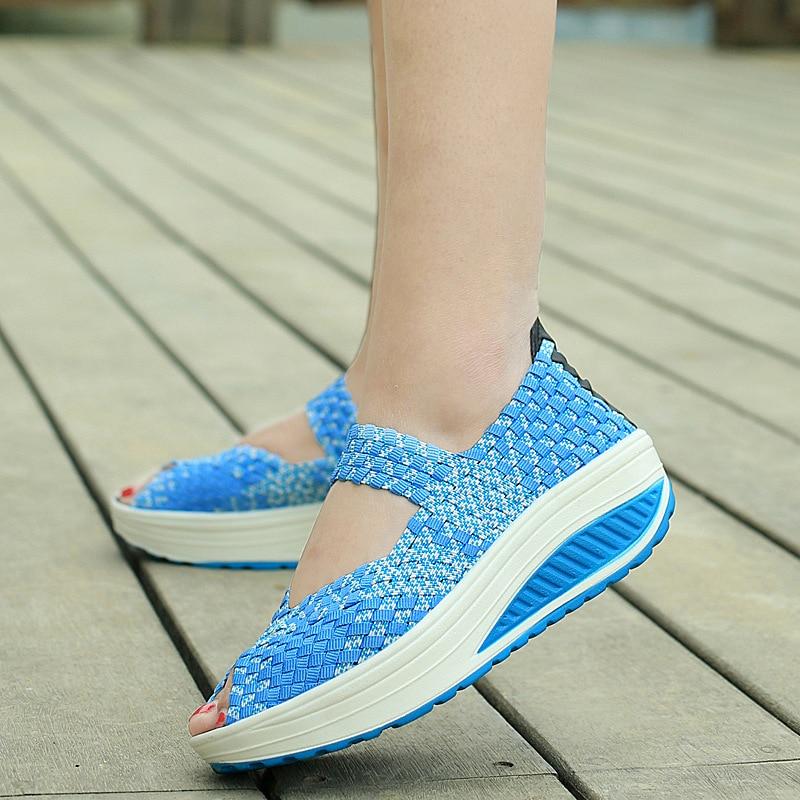 2016 Summer Women Platform Sandals Shoes Women Woven Shoes -2381