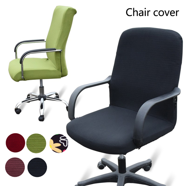 Seat Covers For Computer Chairs Elastic Office Chair Cover Stretch Armchair Covering Slipcover Armchairs