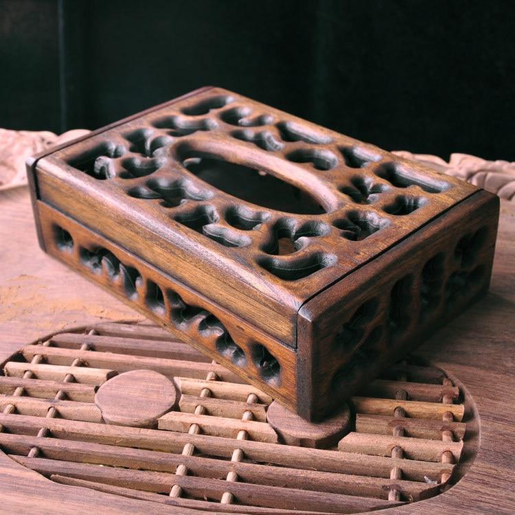 Бытовые твердые деревянные коробки для салфеток гостиная лист бумажная коробка креативное стильное полотенце коробка для отель, ресторан, кафе магазин