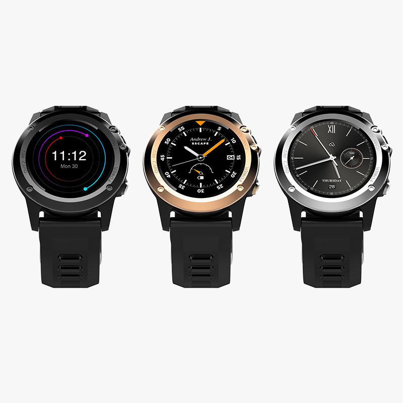 H1 Smartwatch IP68 Android IOS GPS 3G SIM Sport Smart Watch WIFI Wearable Devices Bluetooth BT4.0 Wristwatch(China)