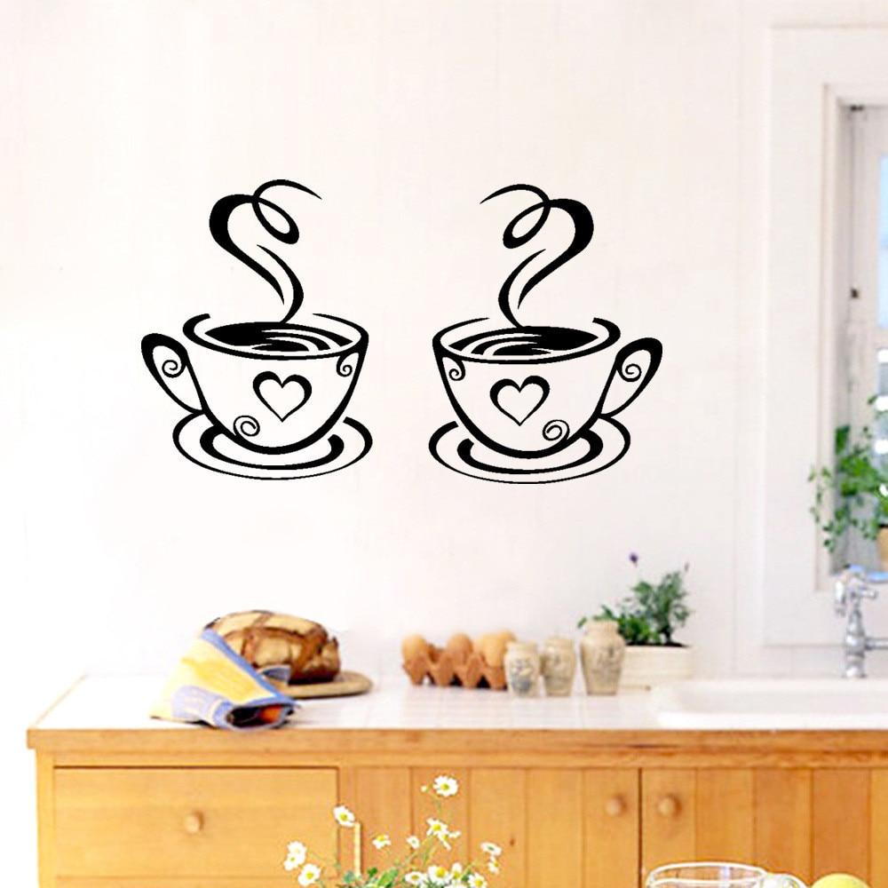 Neue Ankunft Schönes Design Kaffee Tassen Tee Kaffee Kunst Aufkleber ...
