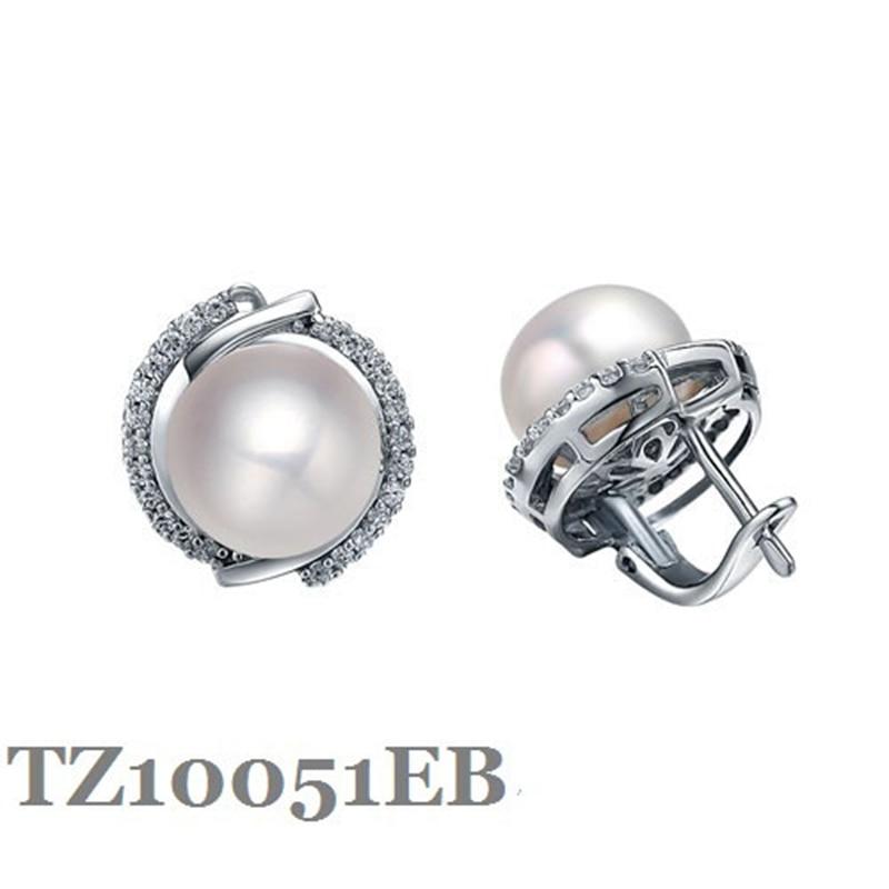 Boucle d'oreille en argent Sterling avec perles naturelles 9.5-10mm, bijoux de mode, serrure de château anglais, boucles d'oreilles pour femmes M