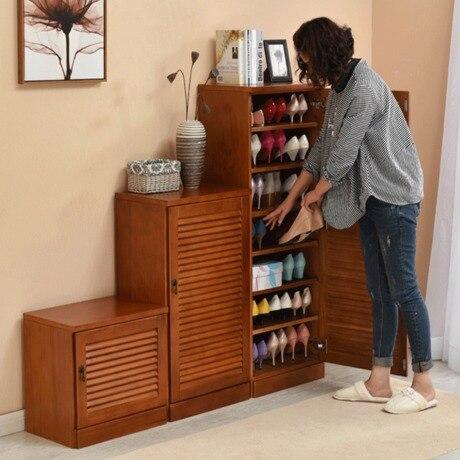 Shoe Rack Home Furniture Solid Wood