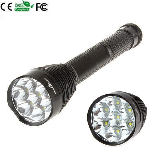 5-Mode 7xCREE XM-L T6 waterproof LED Flashlight Focus Torch Lamp Flash Strong light Camping 3800 lumens cree xm l t6 5 modes led tactical flashlight torch waterproof lamp torch hunting flash light lantern for camping