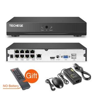 Image 3 - Techege 8CH 1080P system cctv zapis Audio 2MP PoE zestaw kamera IP 3000TVL Metal wodoodporna Night Vision system kamer bezpieczeństwa