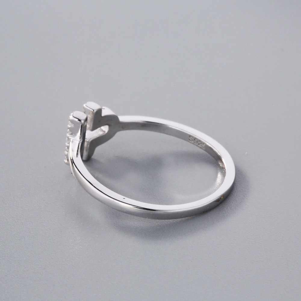 Chandler cristal Micro pavé Libra anneaux réglable Constellation 12 signe Statemnet Feminino bijoux de mode