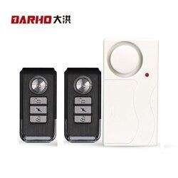 Darho casa segurança janela da porta sirene sensor magnético sistema de alarme aviso sem fio controle remoto detector da porta alarme do assaltante