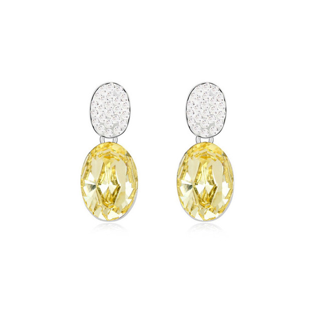 Light Yellow Earrings Studs Crystal High Quality Earrings Wedding Favors And Gifts 5 Colors Girl Birthday Christmas Jewelry Gift