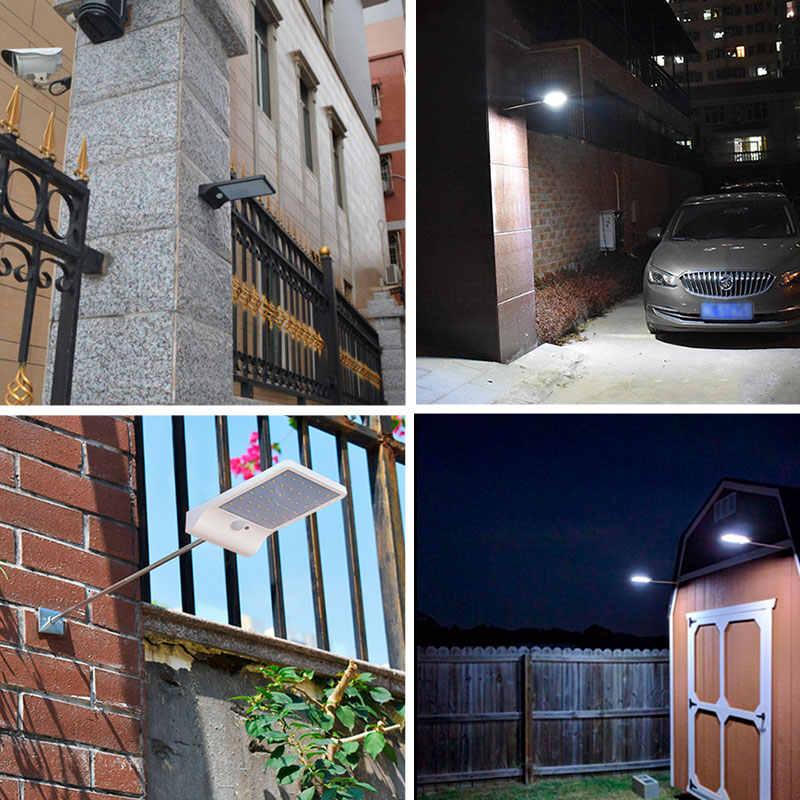 Открытый Солнечный свет водонепроницаемый фонарь 36 светодиодный светильник на солнечных батареях 450LM Авто PIR датчик движения бра уличный Солнечный садовый свет
