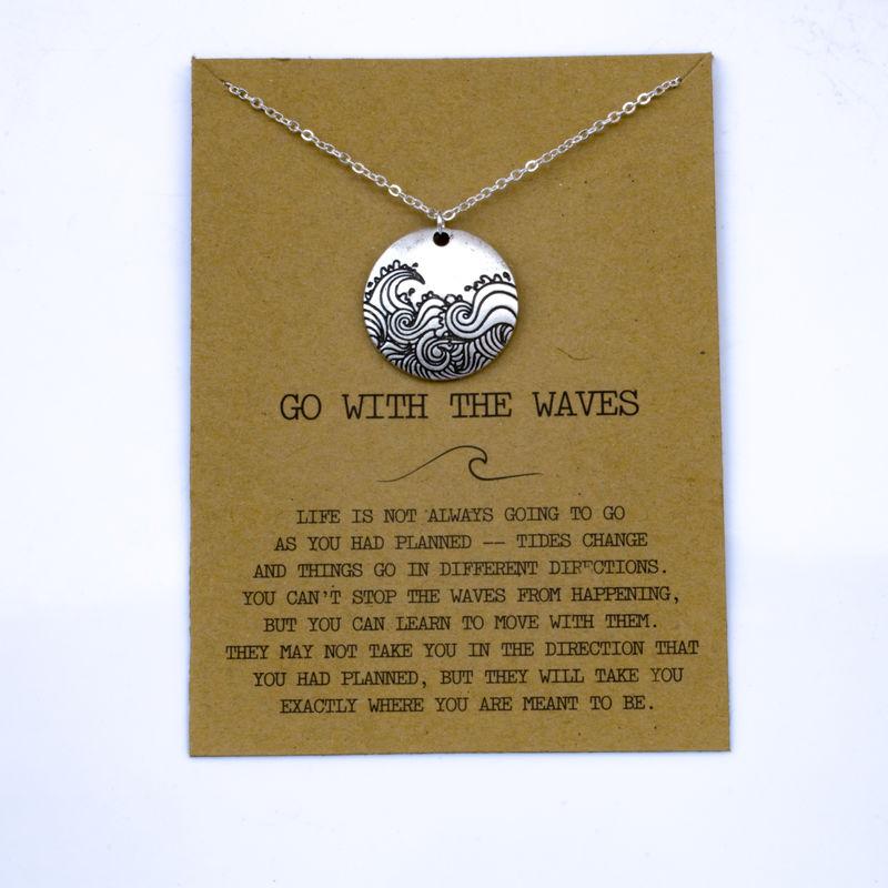 """SanLan 1 шт идут в комплекте ожерелье с подвеской """"волны"""" Океан ювелирные изделия - Окраска металла: 03"""