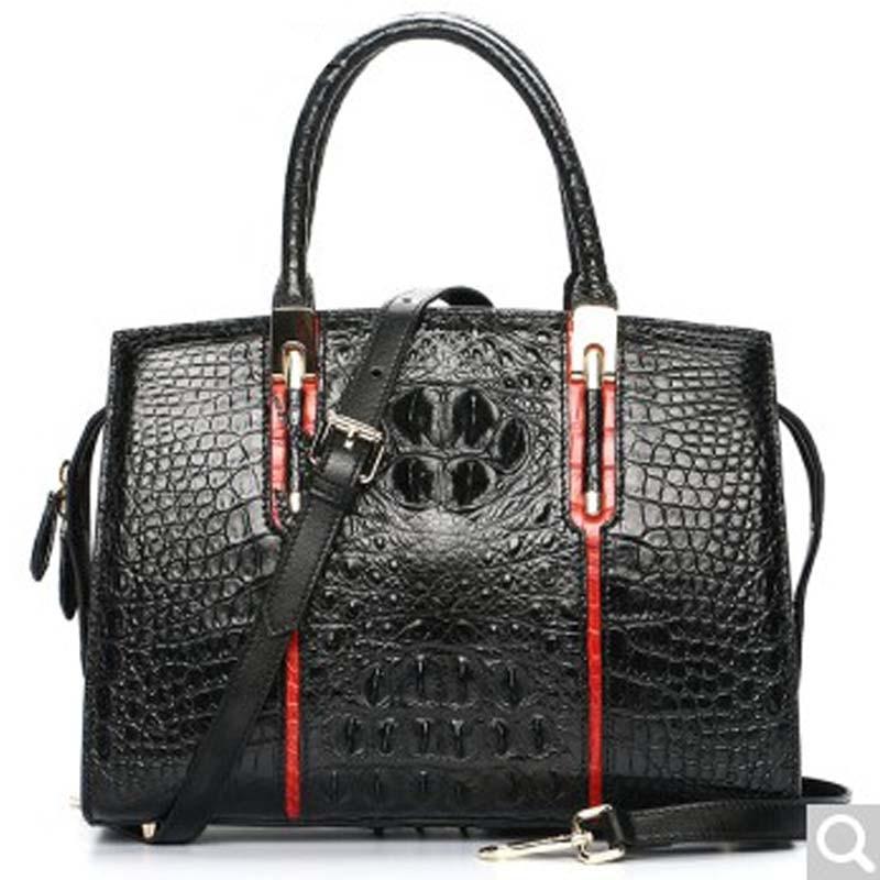 luodungongniu Handbag female new single shoulder bag leather large capacity messenger bag casual woman bag crocodile leather