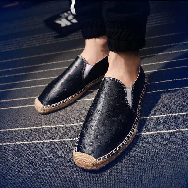 US $18.39 52% OFF|loafers leather men shoes casual arena shoes italian mens shoes brands luxury espadrilles slip on flats mocassin sapato feminino in