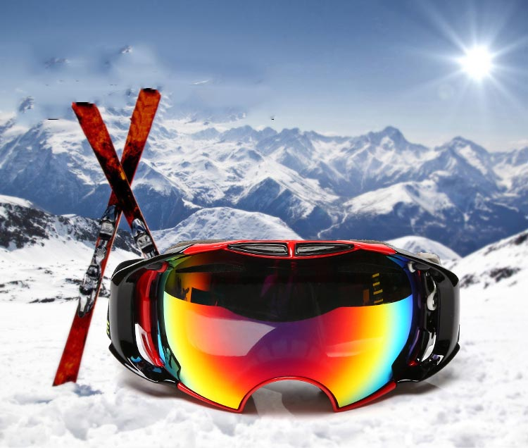 Sposune SNOW-4300 Children Ski Goggles Skiing Eyewear Kids Glasses Snowboarding Skating Goggles UV400 Anti-fog Goggles Ski Mask