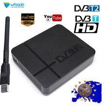 DVB T2 فك صندوق التلفزيون HD الأرضي موالف التلفزيون الرقمي استقبال دعم USB واي فاي H.264 MPEG4 HDMI DVB t الأقمار الصناعية فك التشفير