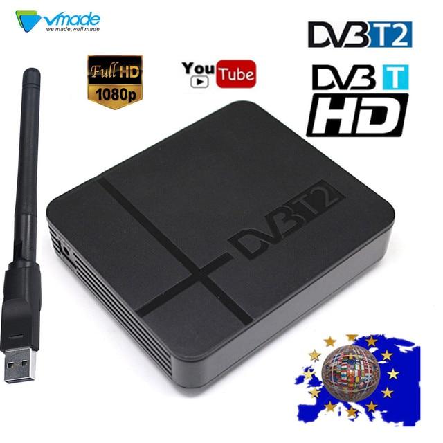 Dvb T2デコーダtvボックスhd地上デジタルtvチューナー受信機サポートusb wifi H.264 MPEG4 hdmi dvb t衛星セットトップボックス