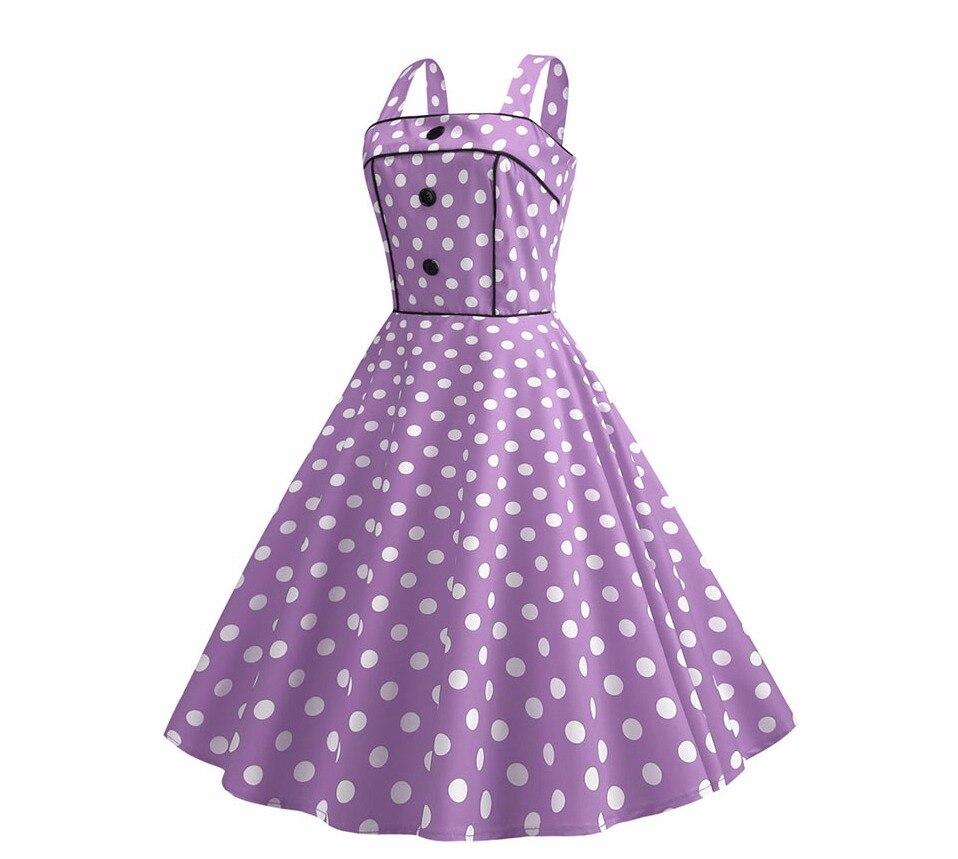 Koktejlové Retro párty šaty jednofarebné prešívaný lem bodky (5 variánt) 24