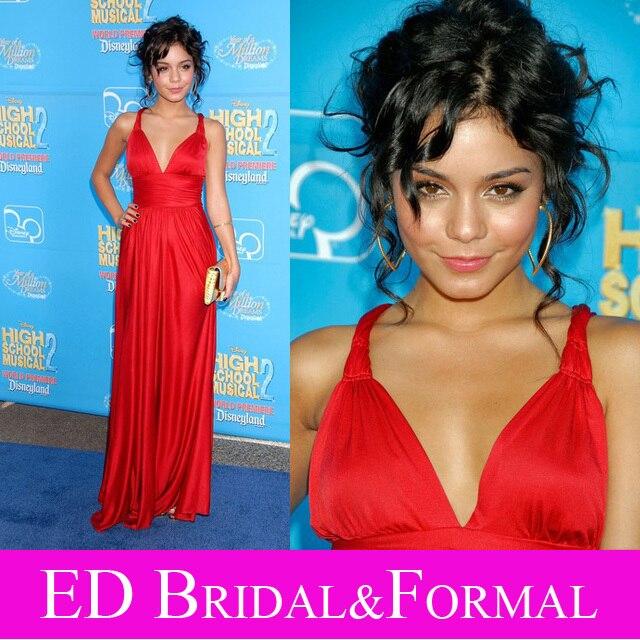 Vanessa Hudgens kleid abend festzug kleid roten langen high school ...