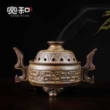 Vintage ceramic creative home aromatherapy incense coil furnace furnace stove furnace sink sandalwood incense цены