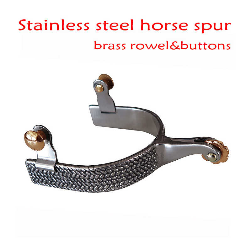 Stainless Steel Western Horse Spurs Equestrian Training Spurs Men's Riding Spurs Riding Equipment For Horse Rider Acavalo