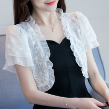 New 2020 Summer Women Short Thin Cardigan Lace Sun Protection Clothing Tops Camisetas Mujer Cape Blusas Femininas