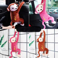 Cartoon Tissue Box Creative Pippi Monkey Paper Napkin Car Tissue Box Animal Tissue Napkin Paper Box napkin holder