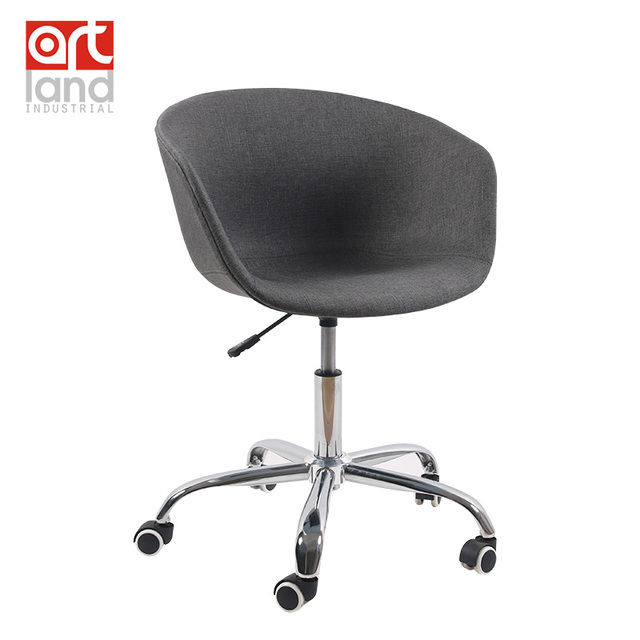 Office Chair Chrome 5 Star Base With Castor Swivel Gas Spring