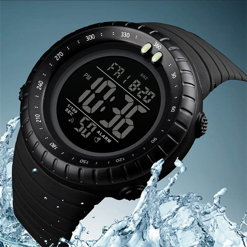 Objective Swim 50 M Waterproof Watch Brand Sports Men Watches Earthquake Resistance Scratch Resistant Outdoor Electronic Digital Clock Man Exquisite Traditional Embroidery Art Children's Watches