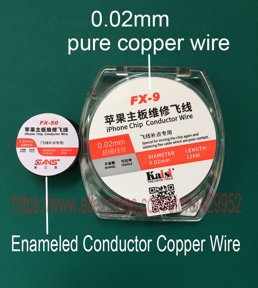 Chip Conductor line Maintenance Jump Line for iPhone motherboard repair fly line polyurethane Copper Wire Fingerprint Soldering