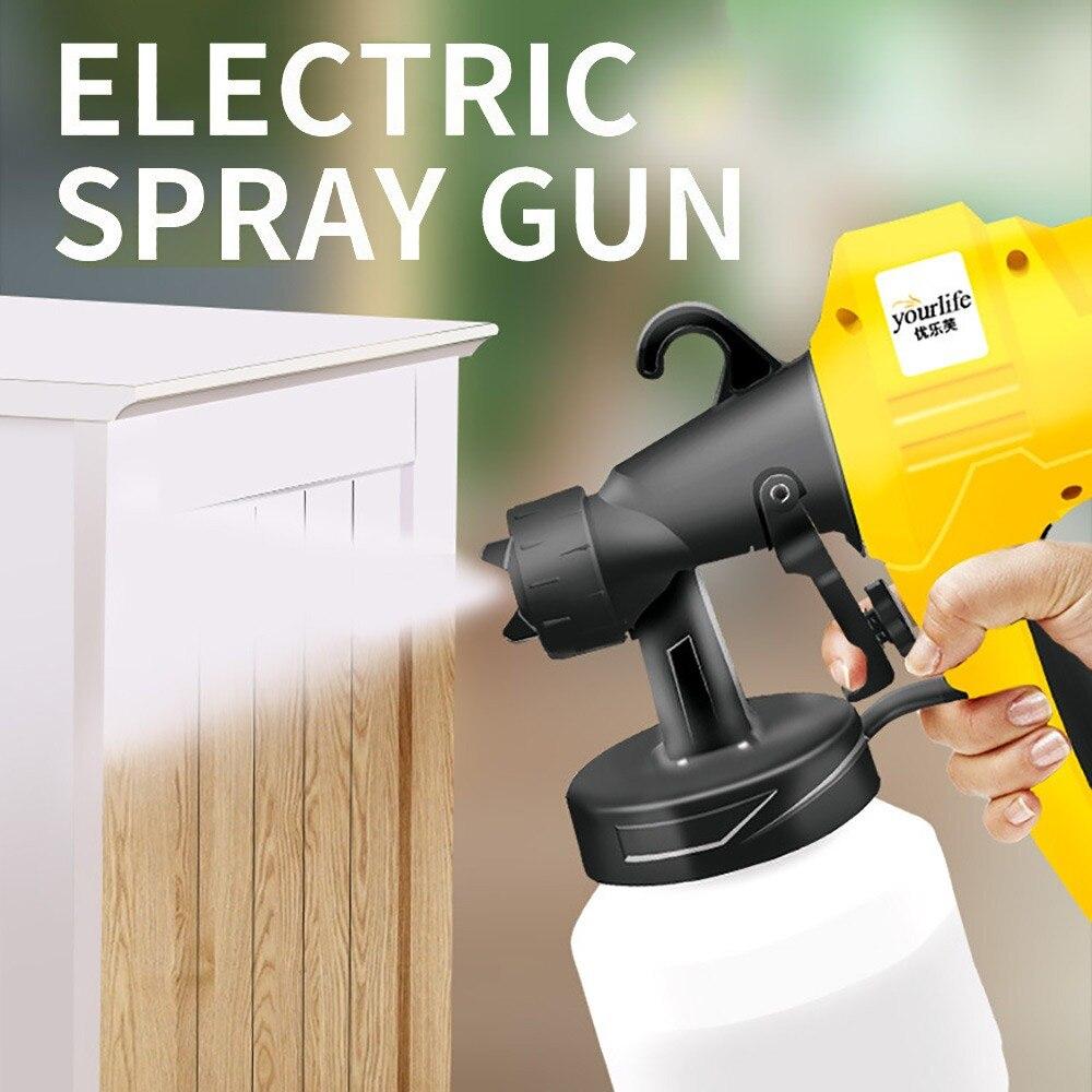 Aletler'ten Sprey Tabancaları'de Elektrikli el püskürtme tabancası boya püskürtücüler yüksek güç ev elektrikli Airbrush boyama arabalar için ahşap mobilya duvar ahşap title=