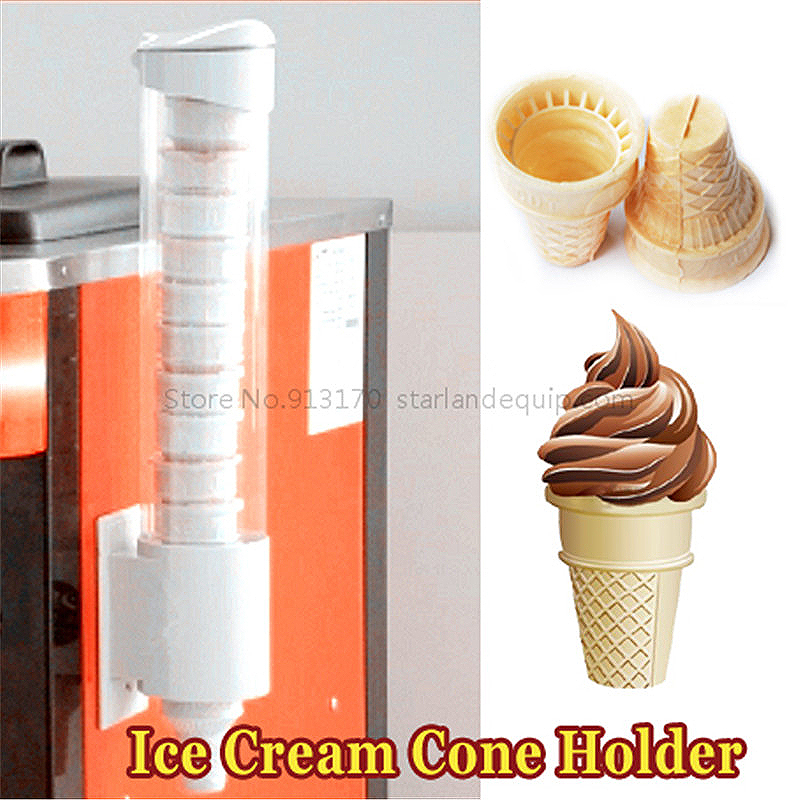 Ice Cream Cones Holder with Magnet Paster Fitting for Commercial Icecream Machines Free Shipping soft ice cream machine commercial 3 color icecream maker 32l ship by sea free