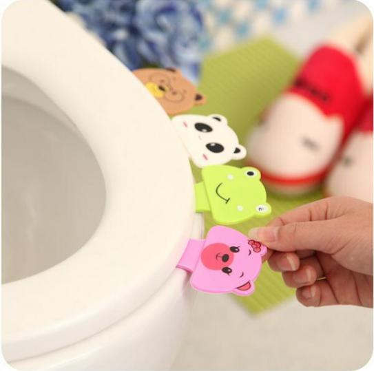 BP New Cute Cartoon Toilet Cover Lifting Device Bathroom Toilet Lid Portable Handle Bathroom Toilet Seat Accessories JJ-ZBD100/
