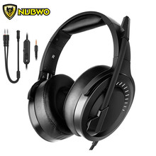 NUBWO N15 Gaming Headset for PS4 Xbox One Nintendo Switch(Audio) casque PC Gamer Stereo Headphones with Mic One Key Mute недорого