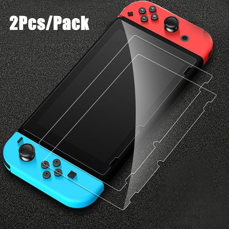 2 Pack Anti-Scratch Oleophobic Coating Full HD Ultra Clear Tempered Glass Protective Film For Nintend Switch NS Console