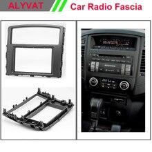 Free Shipping Car Radio Fascia Panel for MITSUBISHI Pajero, Shogun, Montero 2007+ Stereo Dash CD Facia Trim Install Kit