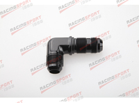 AN  12 (AN12 AN12) 90 DEGREE Bulkhead Fitting black AD22006 adapter|Block & Parts|Automobiles & Motorcycles -