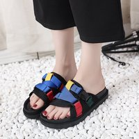 Female big children beach slippers 2019 new Korean summer men and women big children's shoes flat sandals and slippers