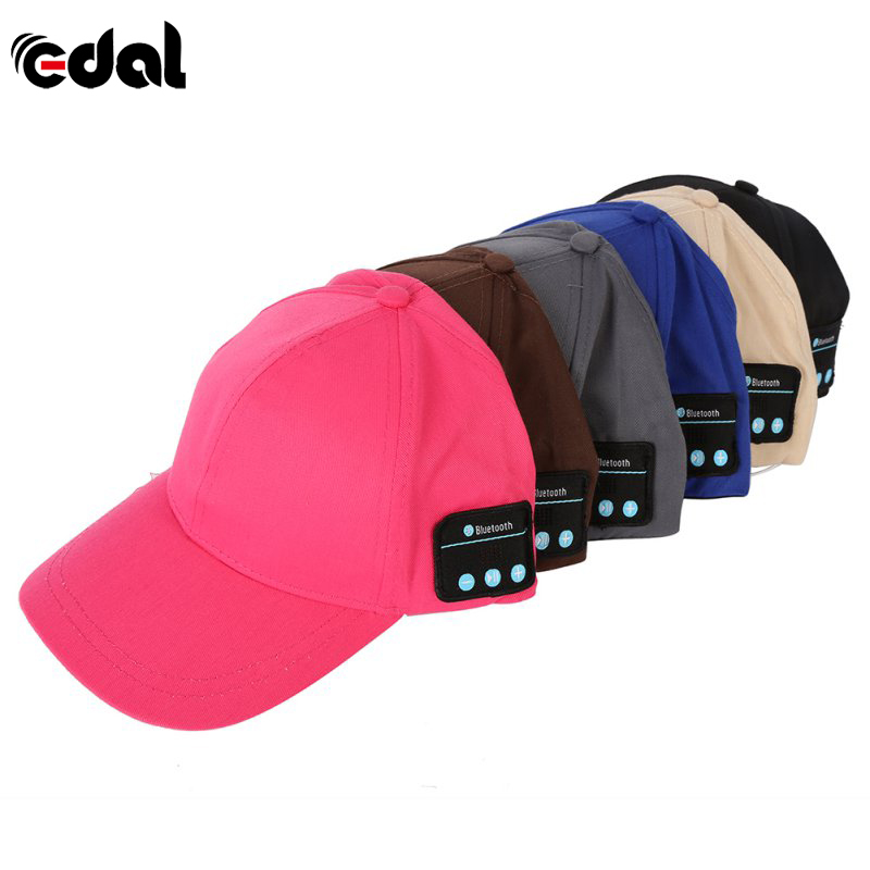 EDAL Newest Men Women Unisex Wireless Sport Bluetooth Music Hat Cap Speaker Earphones Baseball Hat v4 0 edr bluetooth baseball hat