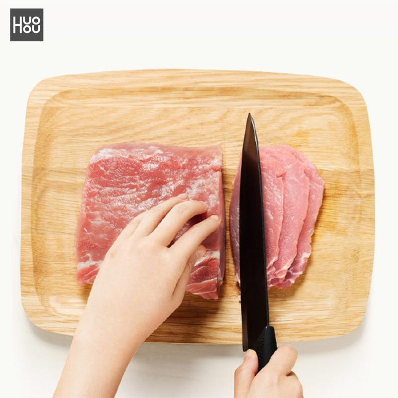 Original Xiaomi Mijia Ecological Chain Brand Huohou Kitchen Knife Mijia Nano-Ceramic Knives Cook Set 4 6 8 Inch Furnace Thinner