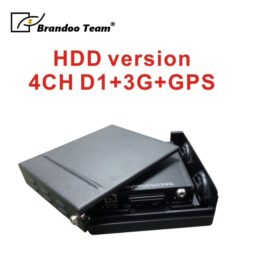 4CH D1 DVR Móvel com 3g/4g e GPS, suporte de monitoramento de vídeo ao vivo no PC