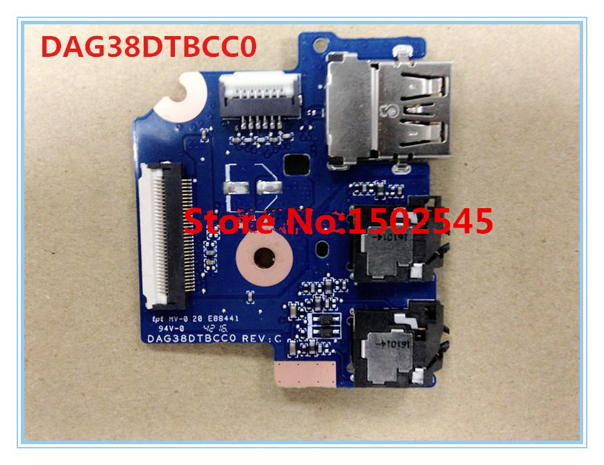Free Shipping Original Notebook USB Interface Board For HP 15 AU Audio Board USB Board USB
