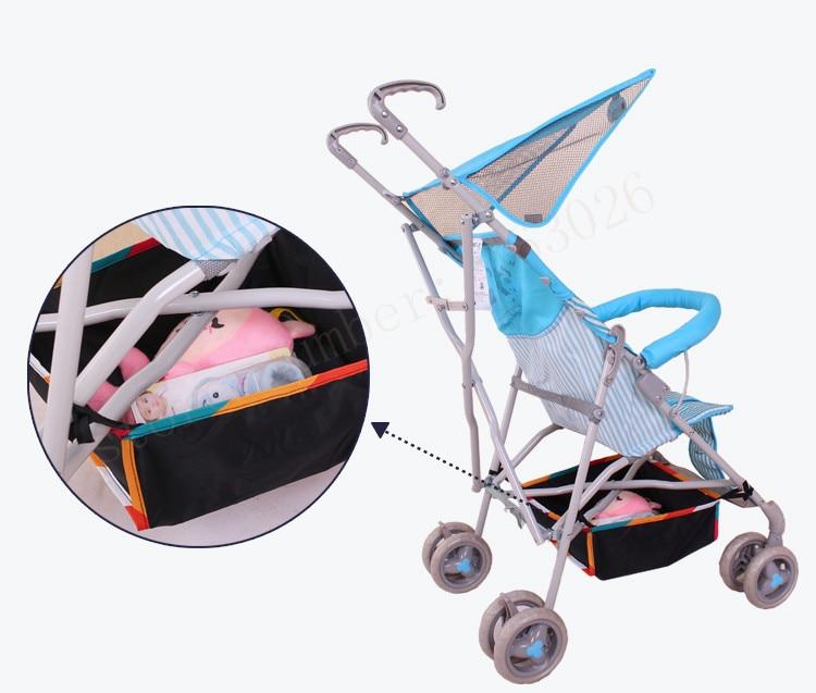Baby barnvagn korg barnvagn tillbehör bil paraply mesh väska generell förvaringsväska gratis frakt