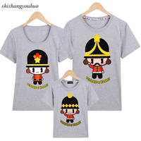 2017 New Summer Family Tees T Shirt Super Adorable Parent-child Character Outfit Clothes Women Multiple Colour Cute T Shirt Tops