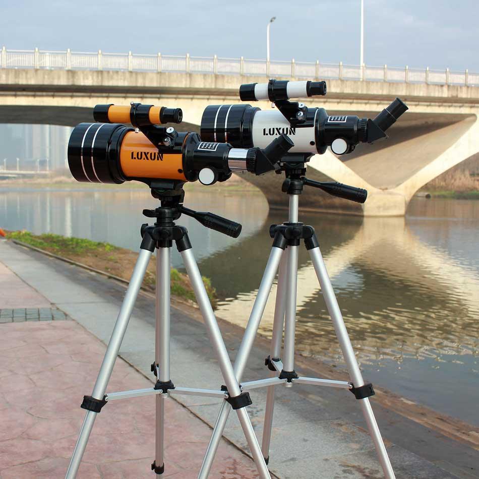 Luxun F30070M Telescope Astronomic Professional With Tripod Finderscope Terrestrial Space Moon Watching Monocular Telescope